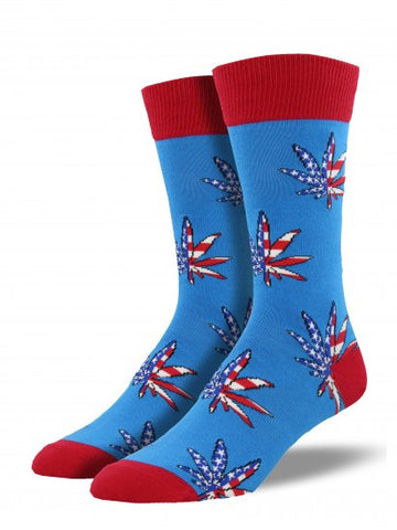 PATRIOTIC PLANT Men's sock