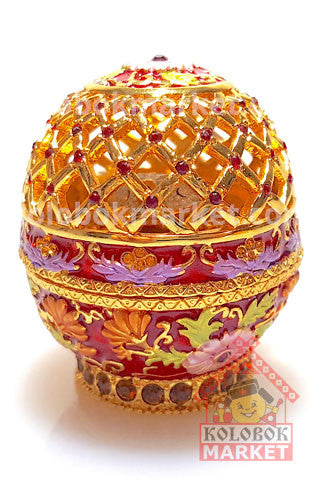 Huevo Faberge La Red con rana, copia