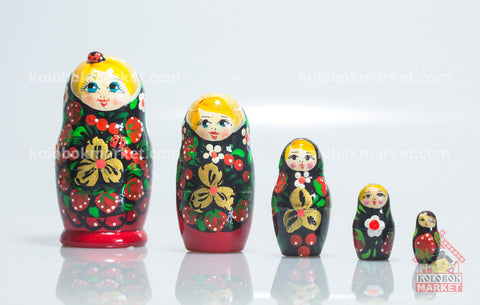 Matrioshka con catarina 5 pzas 10.5 cm