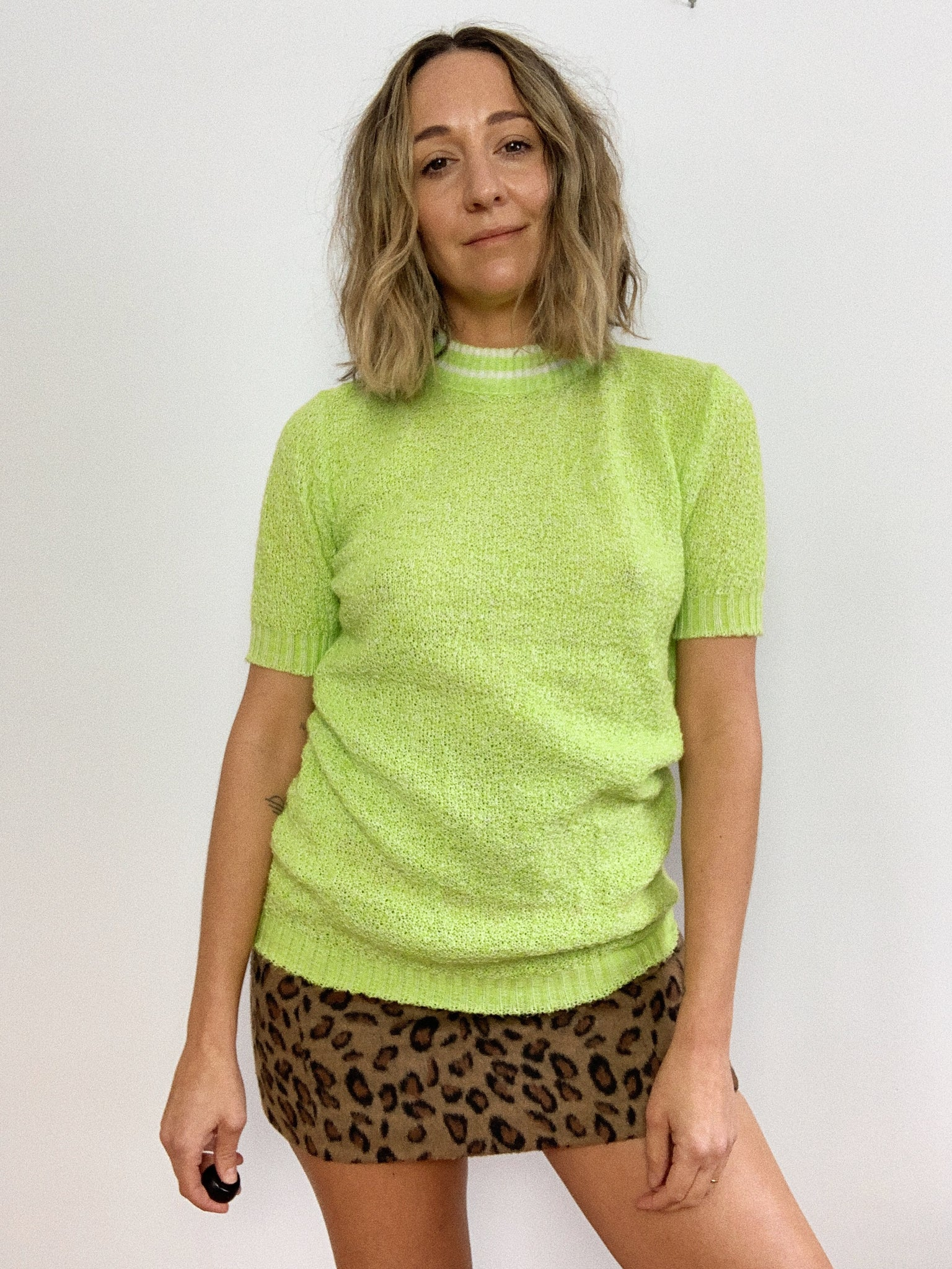 LIME 1970s KNIT / SMALL