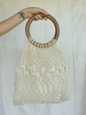 WOODEN NET BAG