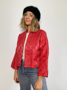 DAISY JACQUARD 1960s JACKET / SMALL