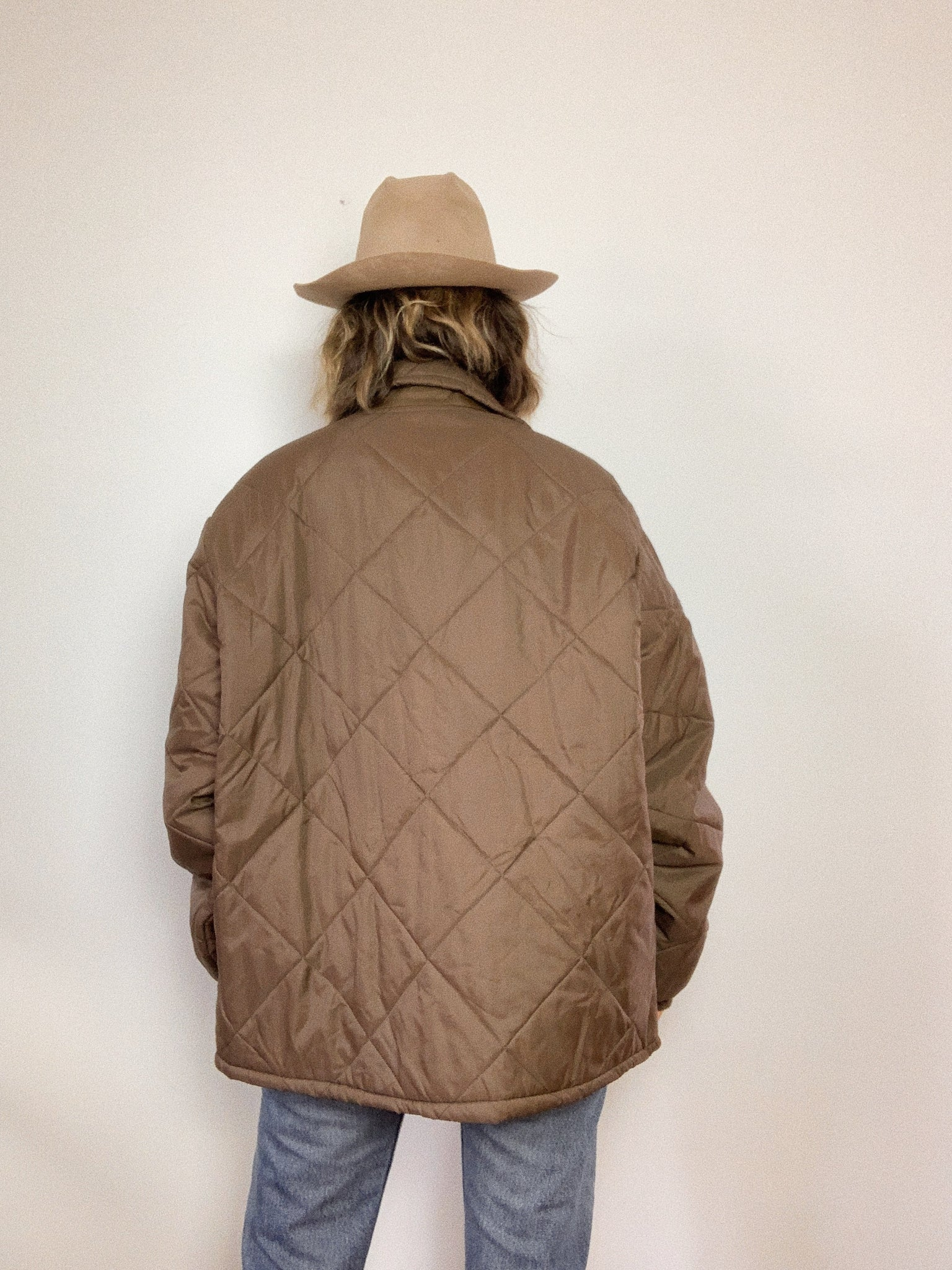 BIG SMITH NYLON QUILTED JACKET / LARGE
