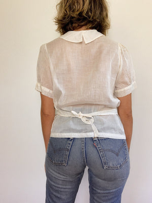 EDWARDIAN BLOUSE / SMALL