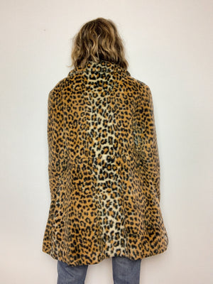 LEOPARD 1960s COAT / MEDIUM