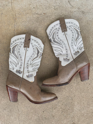 METALLIC COWBOY BOOT / 6