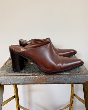 TOPANGA LEATHER MULE / 6.5
