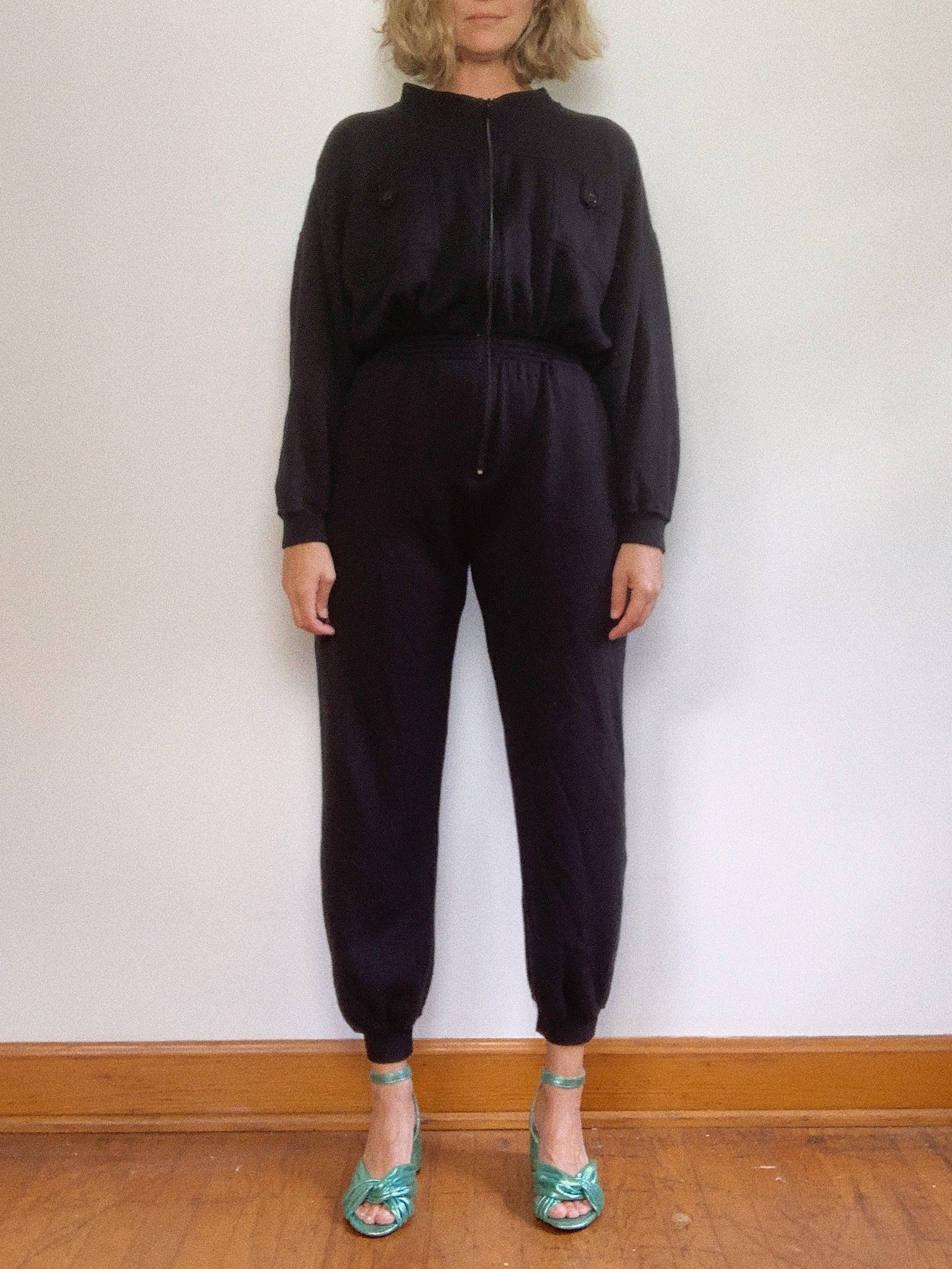 FLEECE JUMPSUIT / MEDIUM