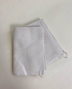 TWO EXTRA THIN LINEN TOWELS