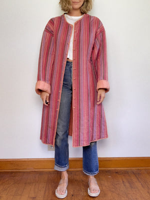 QUILTED COTTON COAT / LARGE