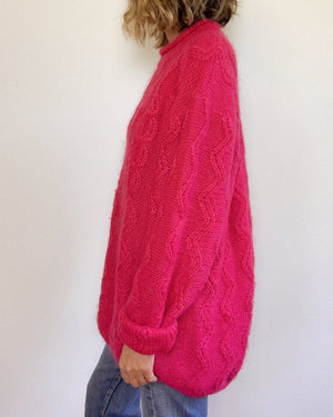 PINK MOHAIR SWEATER / OVERSIZE