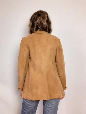 1970s SUEDE POLO COAT / EXTRA SMALL