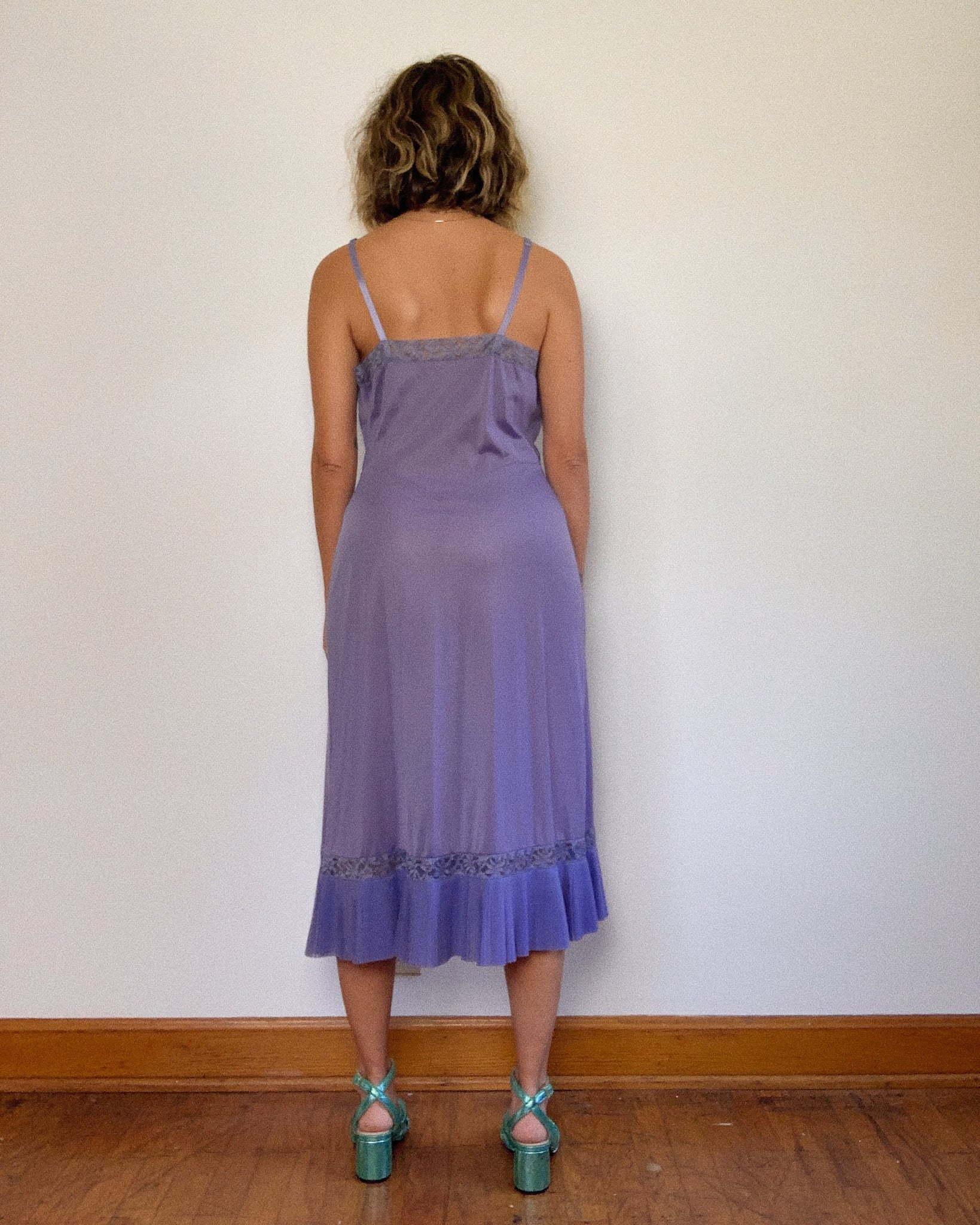 IRIS 1970s SLIP DRESS / MEDIUM