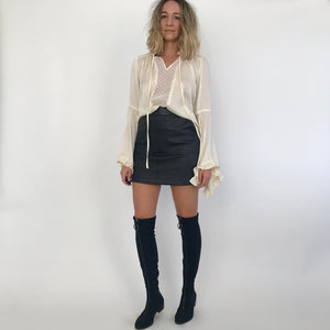 GRIMES LEATHER SKIRT / 2