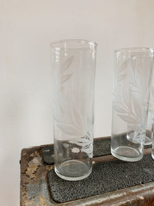 LEAF TALL ICE TEA GLASSES / SET OF 4