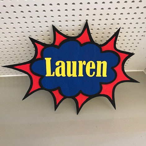 Take and Make Kits: Custom Comic Book Signs