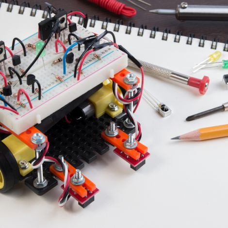 Build an A-Line Robot: Introductory Electronics Course (Ages 16+) -- September 27-November 15, 2018, 6:30pm-8:00pm