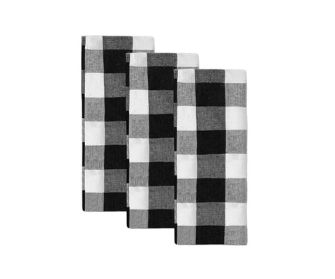Black and White checkered dish towels
