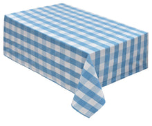 Load image into Gallery viewer, Blue Cotton Tablecloths - (Light Blue & White)