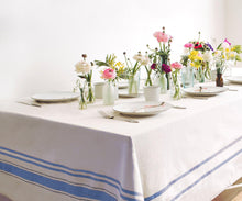 Load image into Gallery viewer, Striped Tablecloth Rectangle - Blue