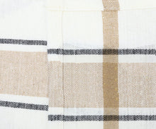 Load image into Gallery viewer, French Stripe Dishtowel - Beige Stripe Cotton Towels - Set of 3