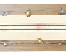 Load image into Gallery viewer, Rectangle Table Runner - (Red Stripes)
