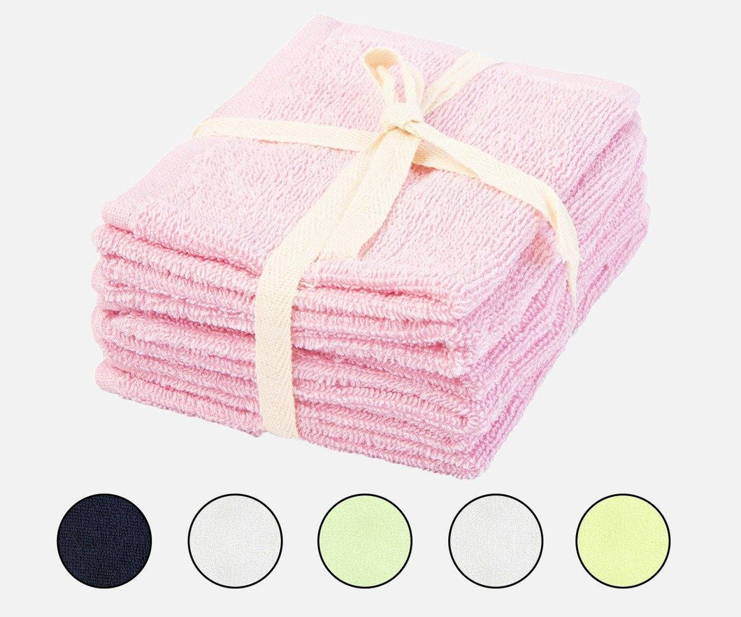 Cotton Terry Towels - Set of 6 (Pink)