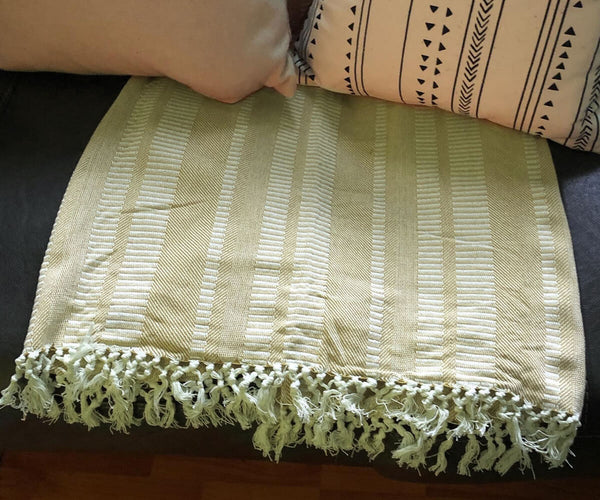 "Waffle Throws - (50"" X 70"" - Yellow)"