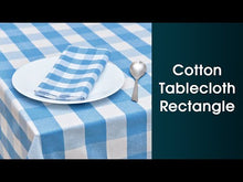 Load and play video in Gallery viewer, Blue Cotton Tablecloths - (Light Blue & White)