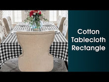 Load and play video in Gallery viewer, Fall Plaid Tablecloth Rectangle - Cotton Checkered Tablecloths