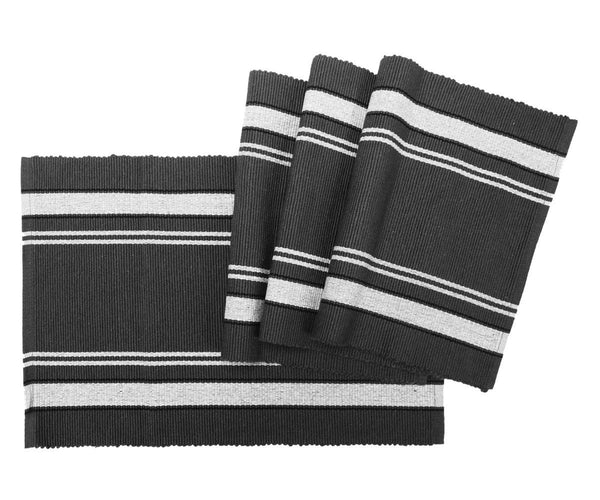 Cotton Ribbed Placemats - Set of 4.