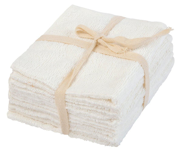 Terry Kitchen Towels - Set of 6 (Natural)