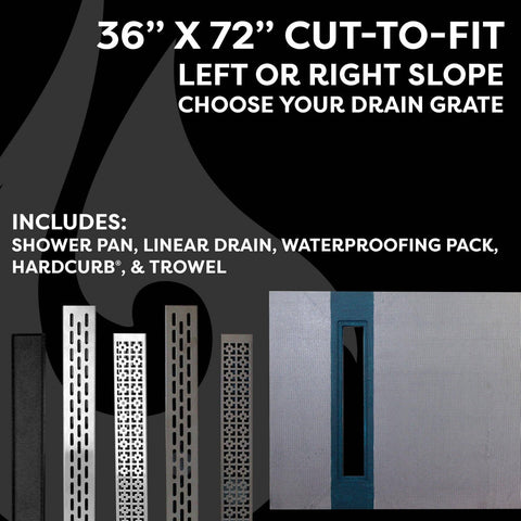 "36"" x 60"" Linear Shower Kit - KBRS - ShowerBase.com"
