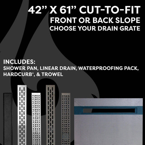 "42"" x 61"" Linear Shower Kit - KBRS - ShowerBase.com"