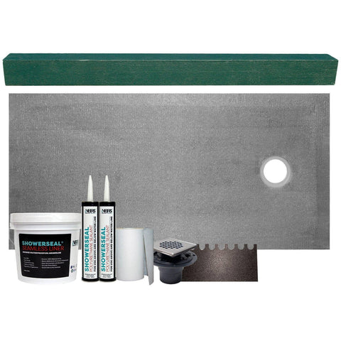 "Cut-to-Fit 32"" X 60"" (Right Drain) Tile Shower Base Kit"