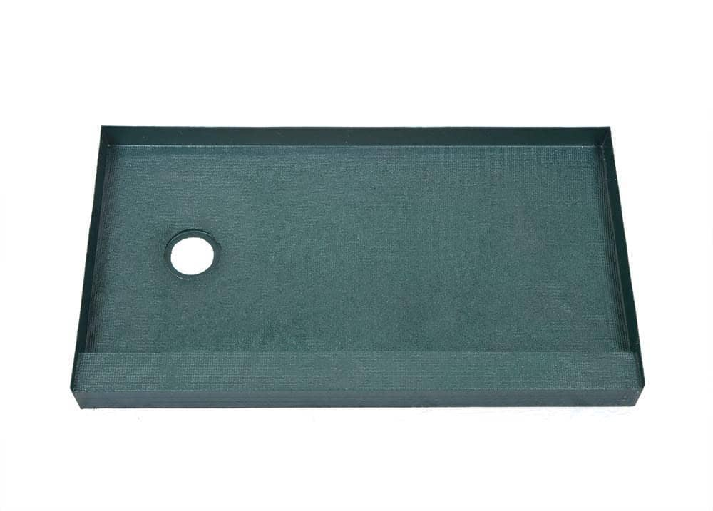 "34"" X 60"" (Left Drain) Tileable Shower Base - Free Shipping* - KBRS - ShowerBase.com"