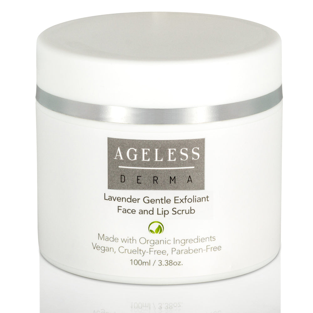 Ageless Derma Lavender Gentle Exfoliant Face and Lip Scrub