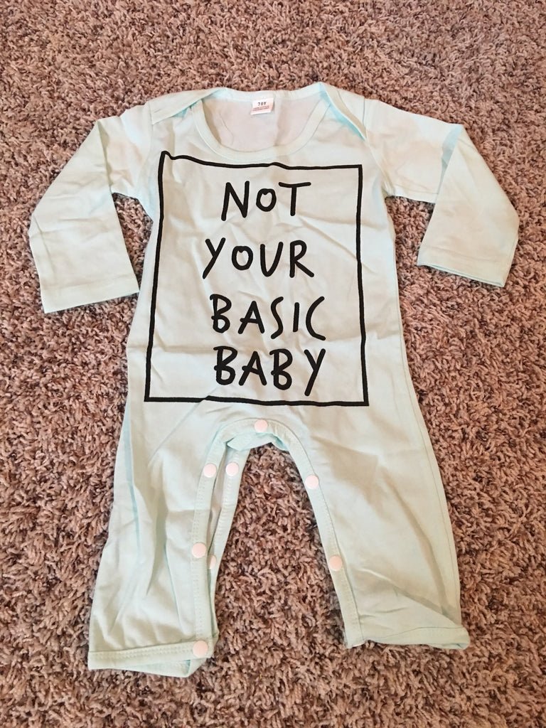 Not Your Basic Baby *MINT* Romper