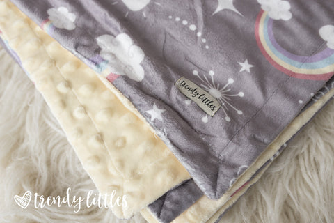 Rainbows & Sunshine Premium Minky Blanket
