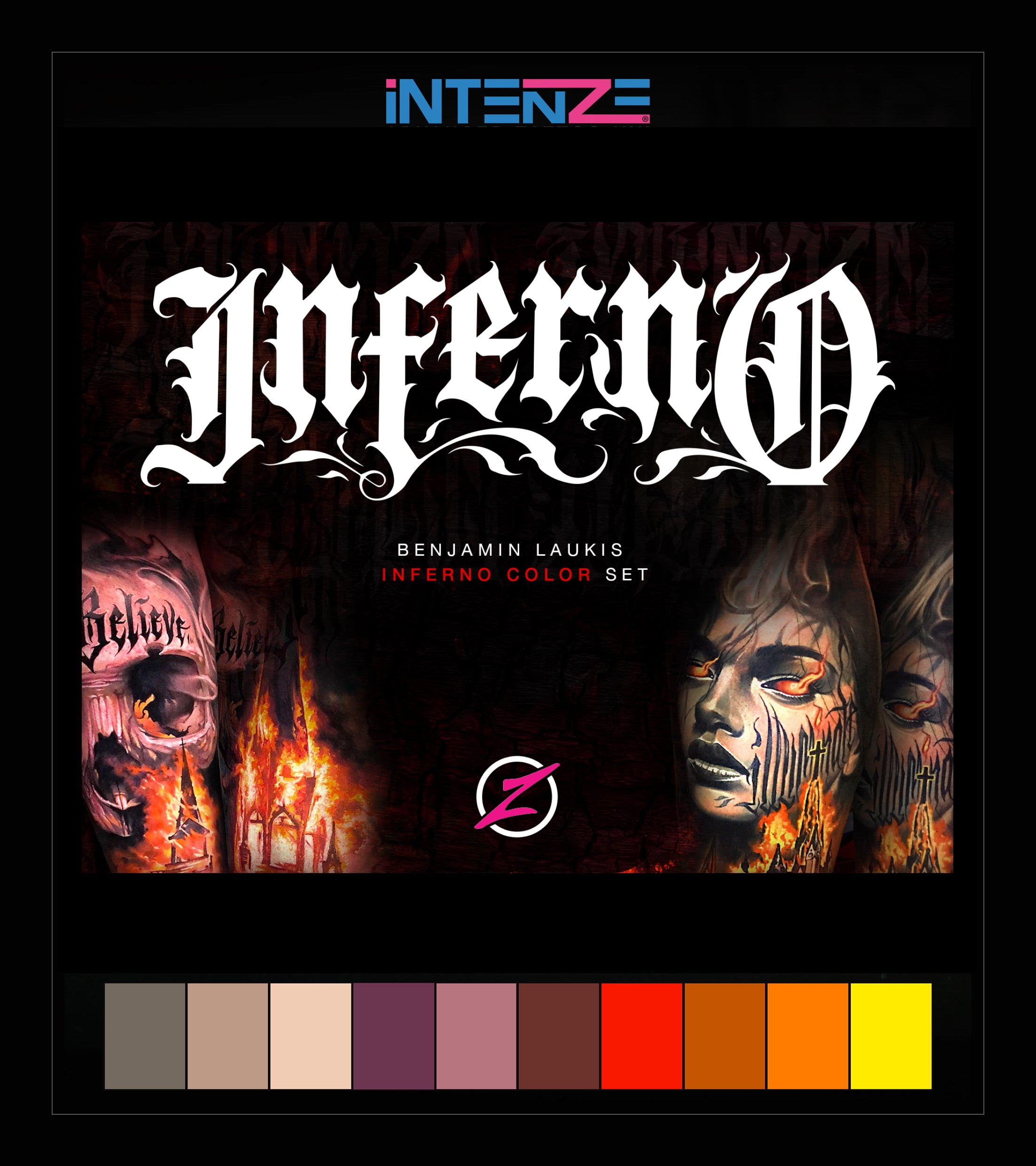 INFERNO Tattoo Color Set