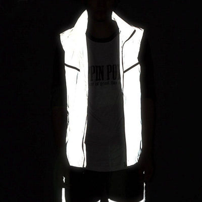Running Jackets - Full Reflective Sleeveless Vest