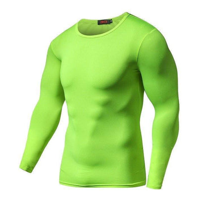 T-Shirts - Mens Long Sleeve Quick Dry Compression Shirt
