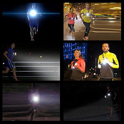 USB Rechargeable LED Night Running Chest Light