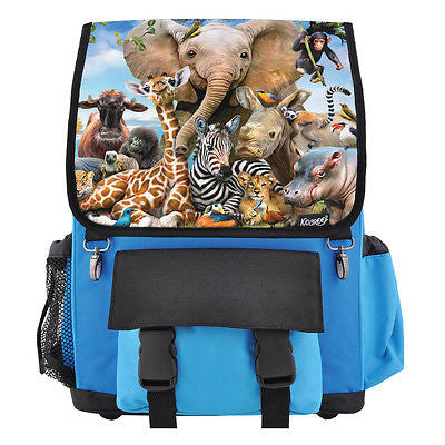 Safari Smile Zoo Animals School Backpack, Book Bag for Boys, Girls, Kids