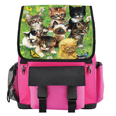 Cute Little Kittens School Backpack for Girls & Boys