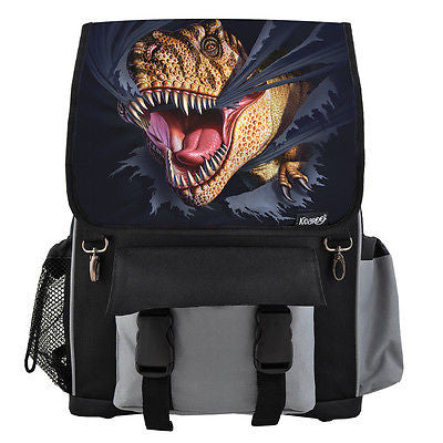Tearing T-Rex Dinosaur School Backpack, Book Bag for Boys, Girls, Kids