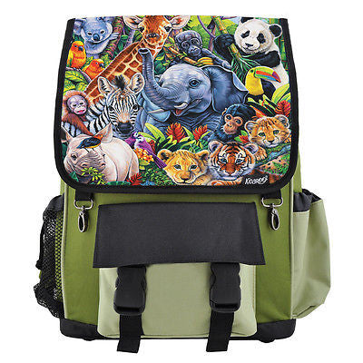 Jungle Babies Backpack, Book Bag for Boys, Girls, Kids