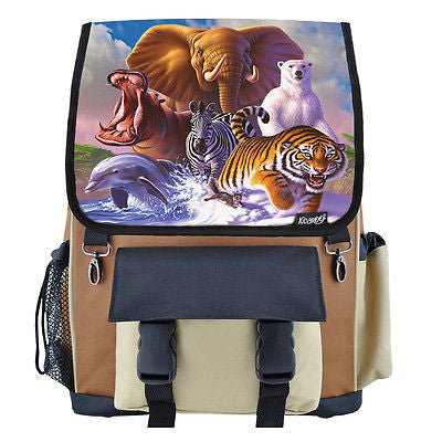 Wildlife Planet School Backpack, Book Bag for Boys, Girls, Kids