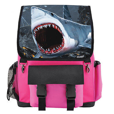Great White Shark Bite School Backpack, Book Bag for Boys, Girls, Kids