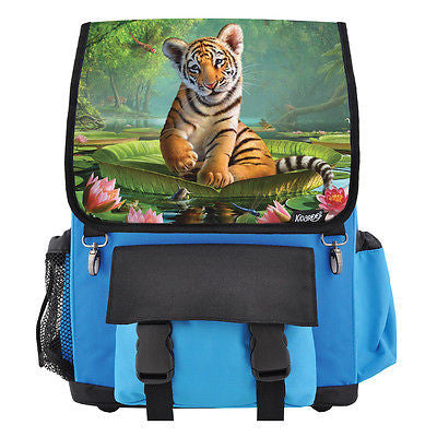 Tiger Cub On Lily Pad School Backpack, Book Bag for Boys, Girls, Kids
